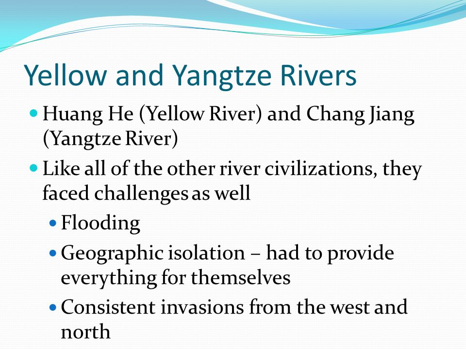 Early river civilizations ppt video online download yellow and yangtze rivers sciox Choice Image