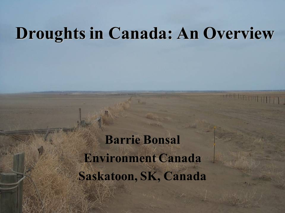 Droughts in Canada: An Overview