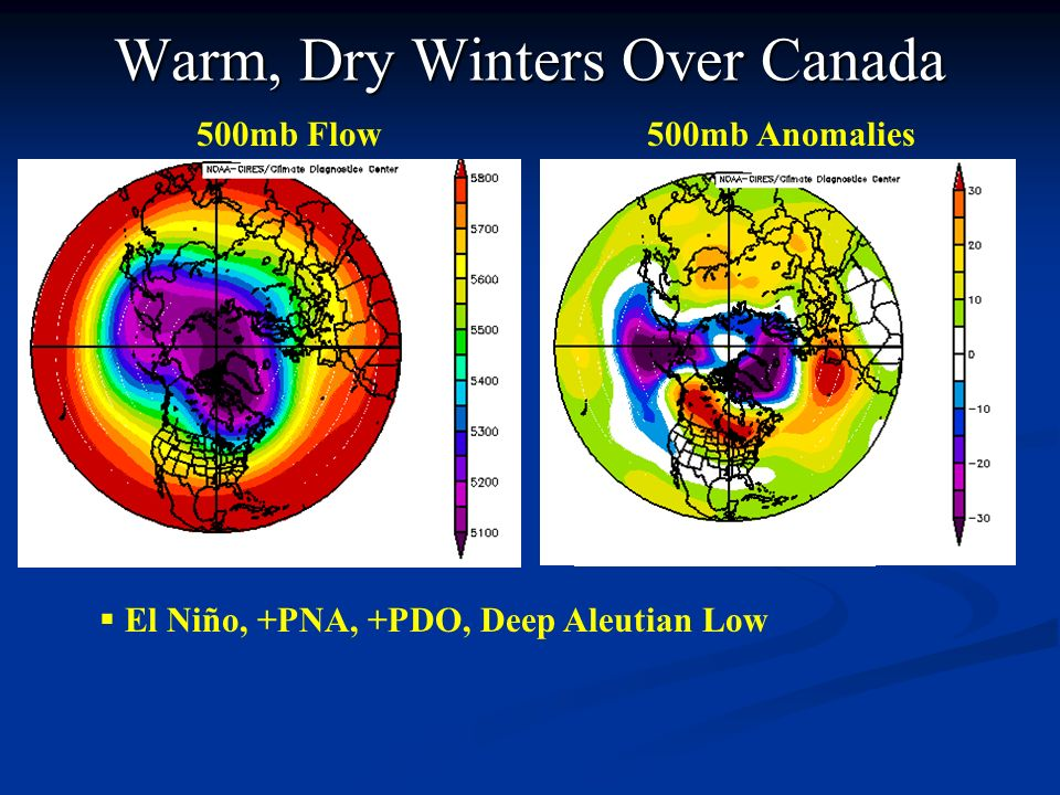 Warm, Dry Winters Over Canada