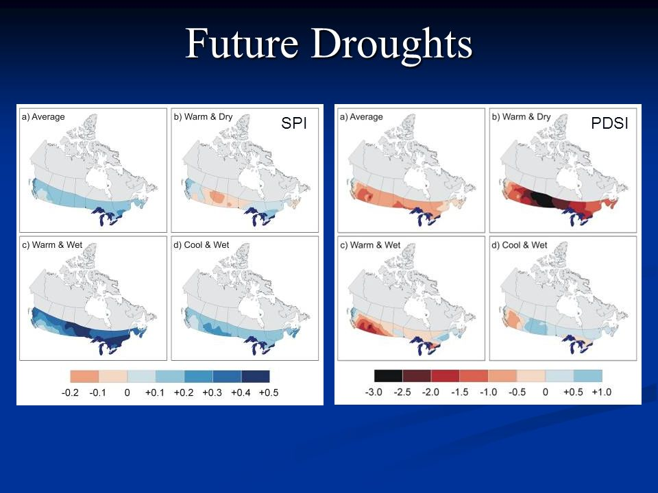 Future Droughts SPI PDSI