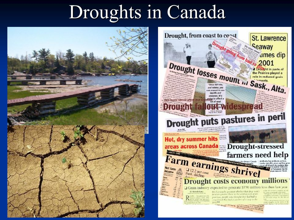 Droughts in Canada