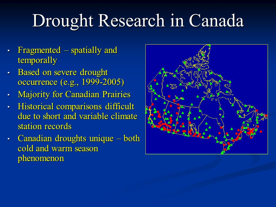 Drought Research in Canada
