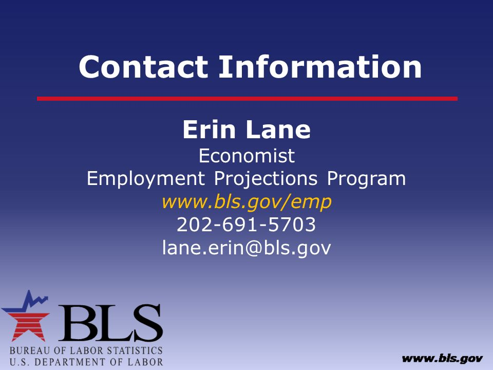 Employment Projections Overview - ppt download