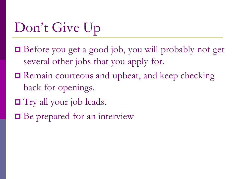 definition of job lead