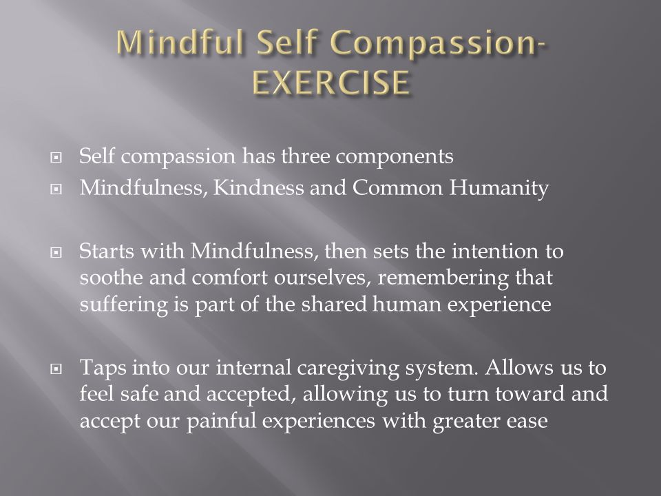 kindness towards self