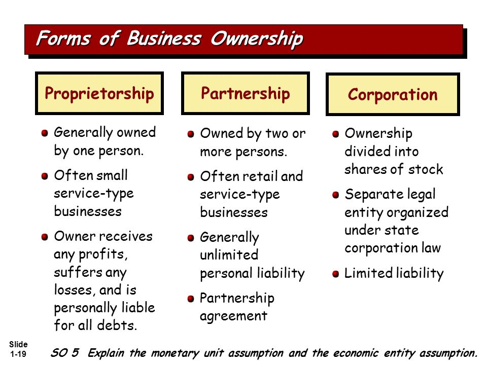 forms of small business ownership From the small business administration one of the first decisions that you will have to make as a business owner is how the company should be structured.