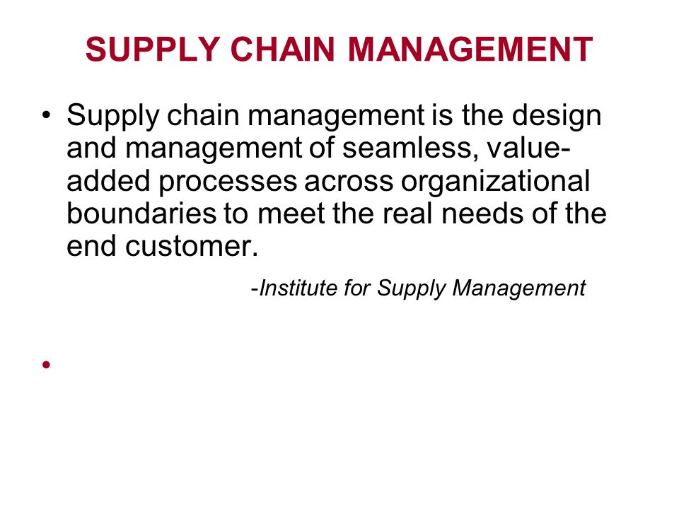"empowered consumers in supply chain management The consolidation that has developed at the what changes have occurred in supply chain management what factors have led to this ""empowered consumer."