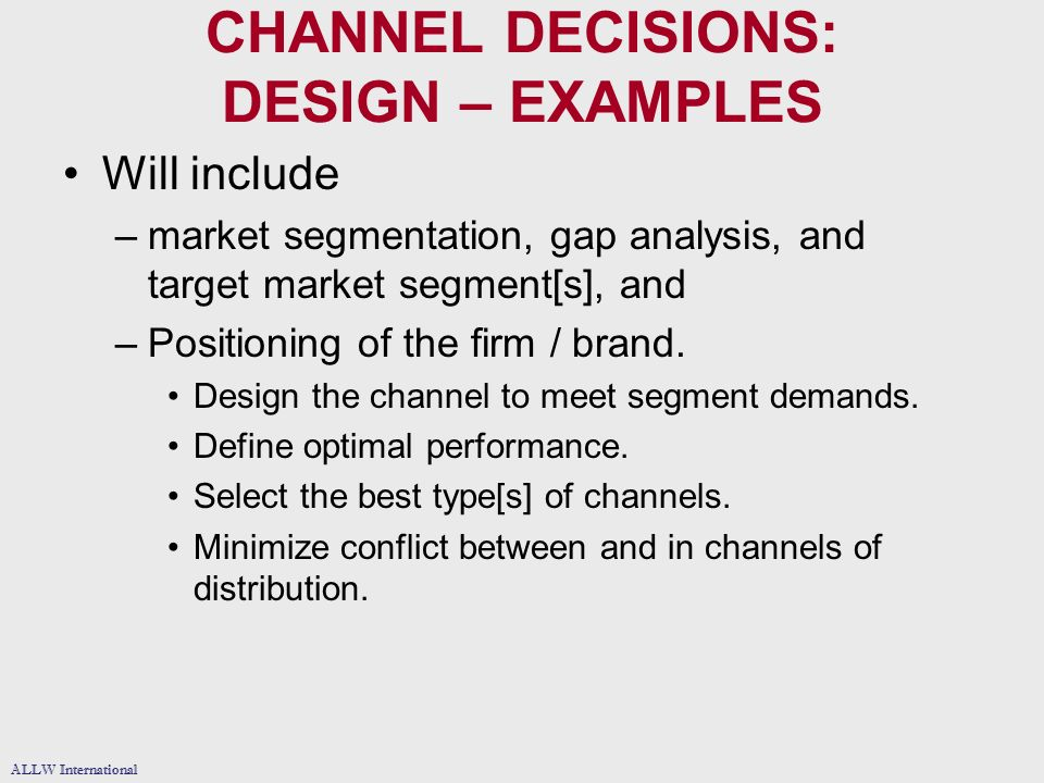 channels of distribution analysis Understand how channel management and retailing can improve performance in your business nowadays, a distribution strategy is part of the dna of many companies and a correct channel management is key for the success of your product.