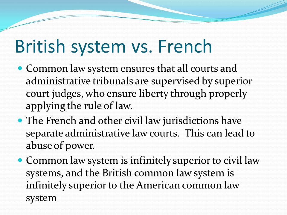 British system vs. French