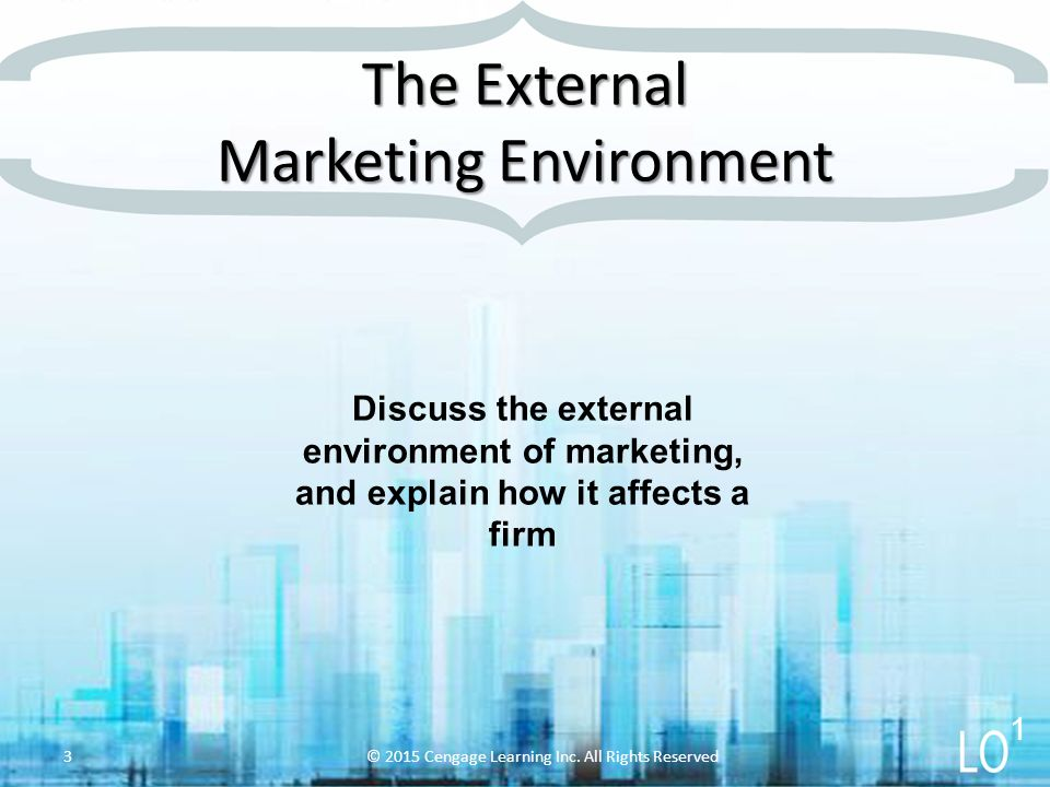 discuss the marketing environment The marketing environment elements of the environmentthe marketing environment involves factors that, for the most part, are beyond the control of the companythus, the company must adapt to these factorsit is important to observe how the environment changes so that a firm can adapt its strategies appropriately.