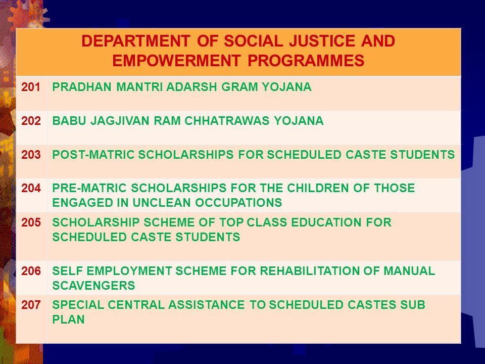 schemes social justice and empowerment