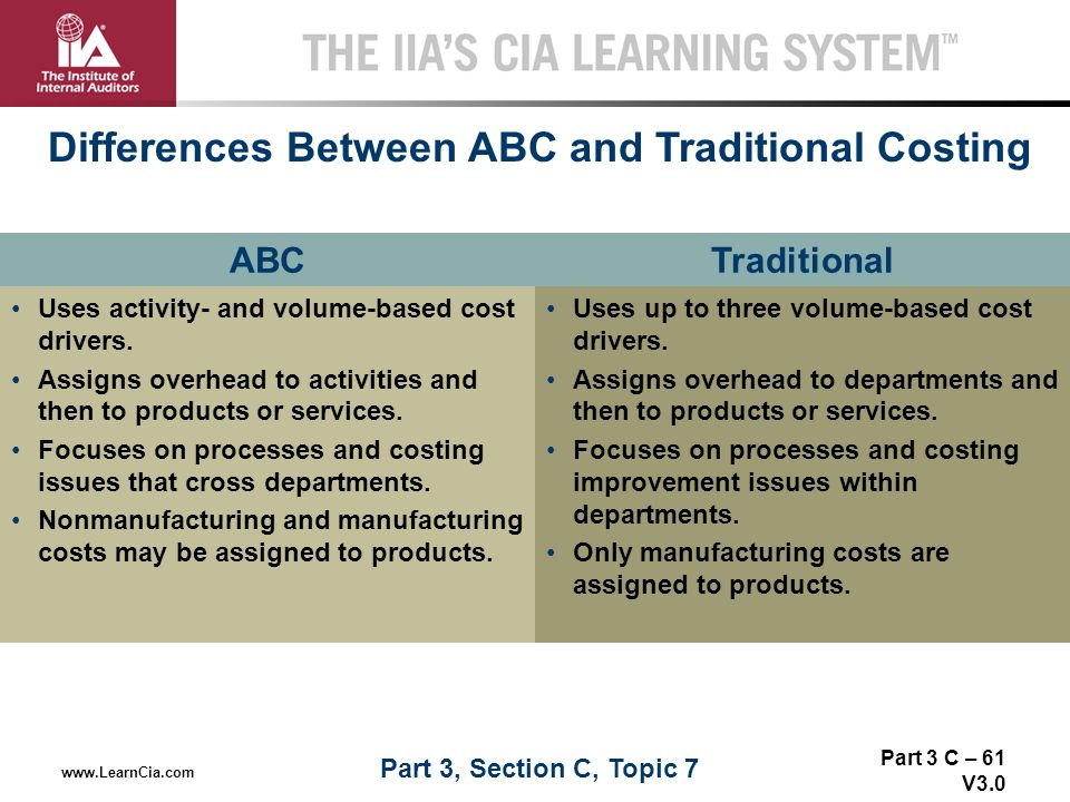 how does abc differ from other allocation methods In activity-based costing, costs must be allocated to activity cost pools and then they are allocated from the activity cost pools to products, customers, and other cost objects why is the first stage of the allocation process in abc often based on interviews.