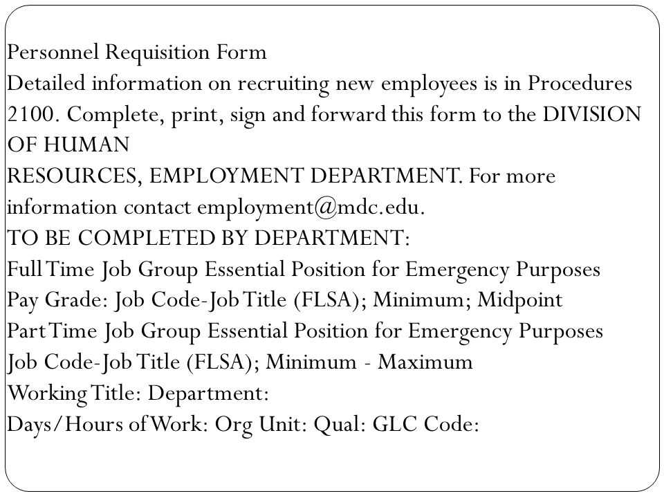 Employee Requisition Form Purchase Requisition Form Sample