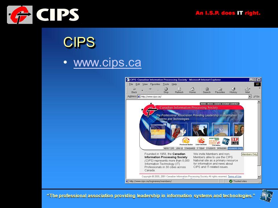 CIPS www.cips.ca