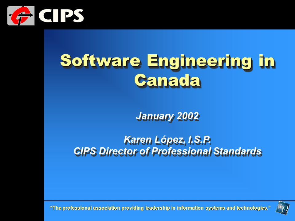Software Engineering in Canada