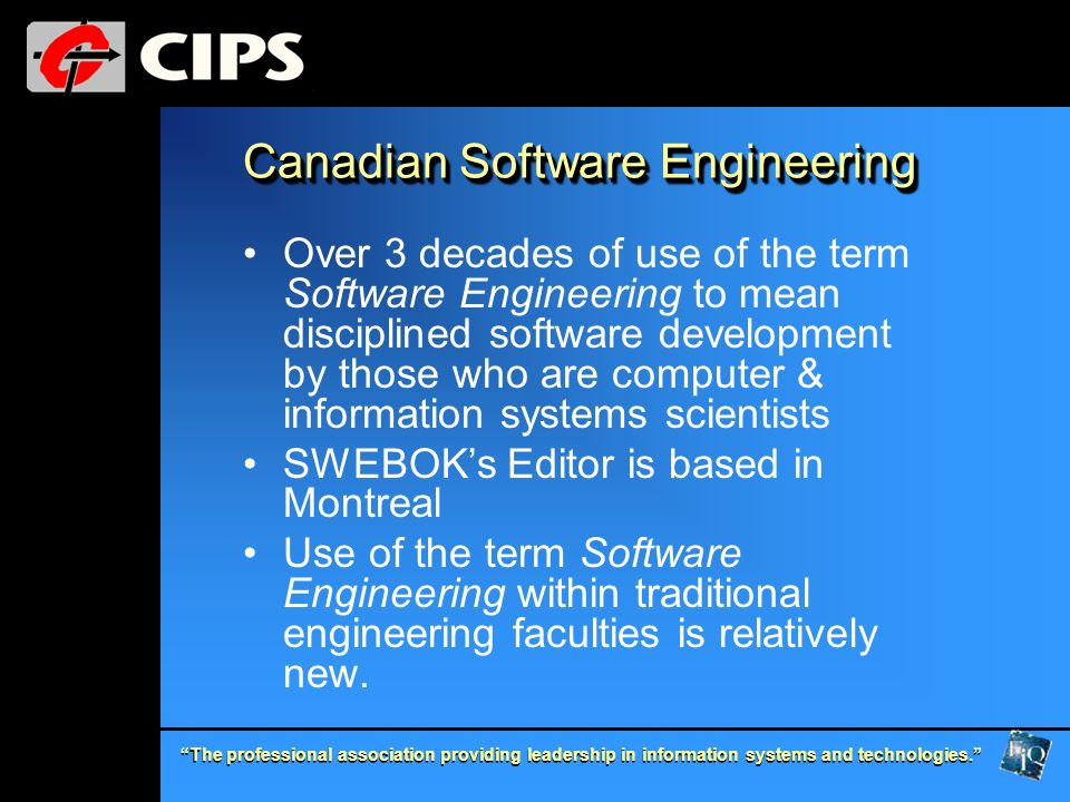 Canadian Software Engineering