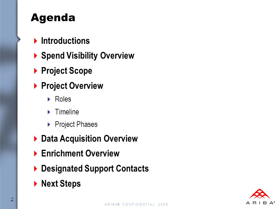 tomkins spend visibility project kick-off meeting - ppt video, Powerpoint templates