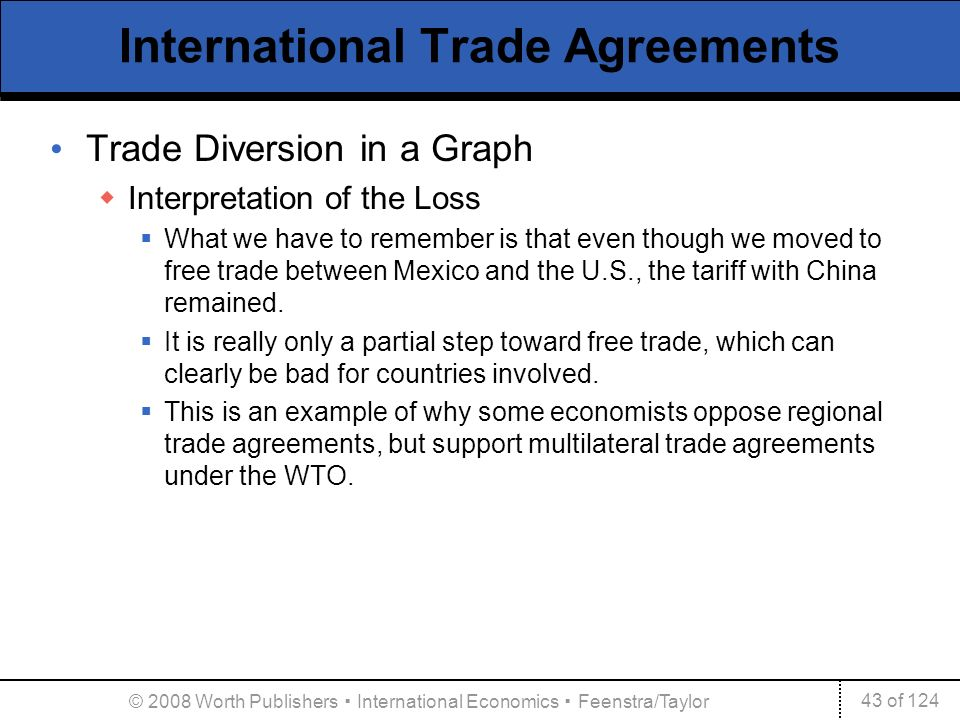 An Argument In Favor Of International Free Trade Agreements