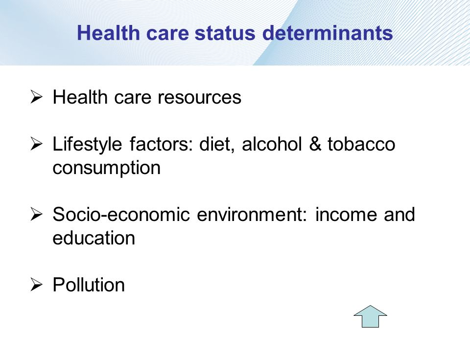 Health care status determinants