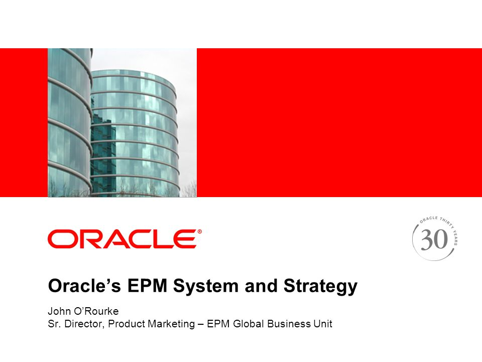 business strategy presentation on oracle An update and analysis of oracle's top 6 strategies of engineered systems, cloud,   analytics within the business apps for a contextual presentation delivered by.