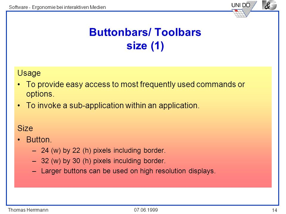 Buttonbars/ Toolbars size (1)
