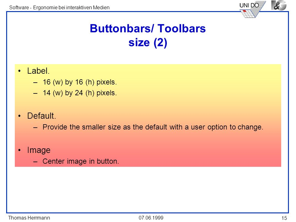 Buttonbars/ Toolbars size (2)