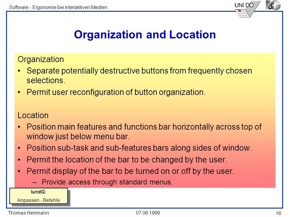 Organization and Location