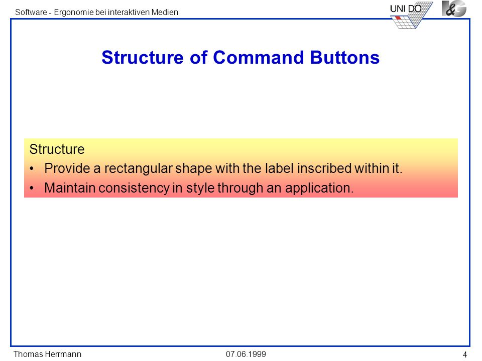 Structure of Command Buttons