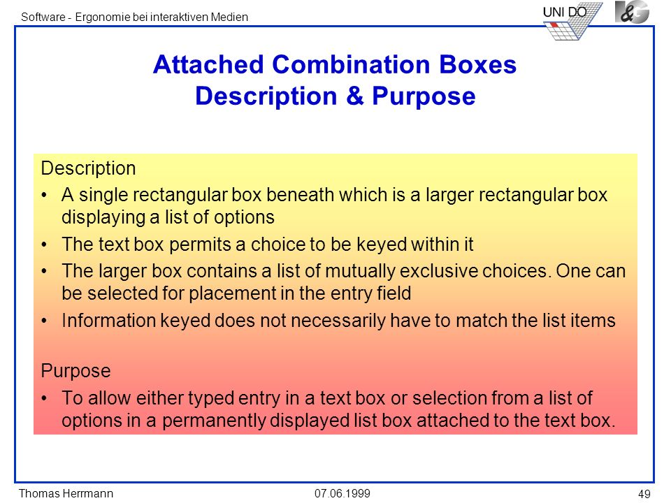 Attached Combination Boxes Description & Purpose