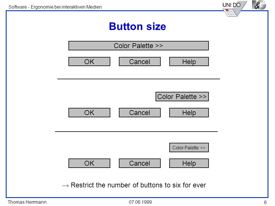 Button size OK Cancel Help Color Palette >> OK Cancel Help