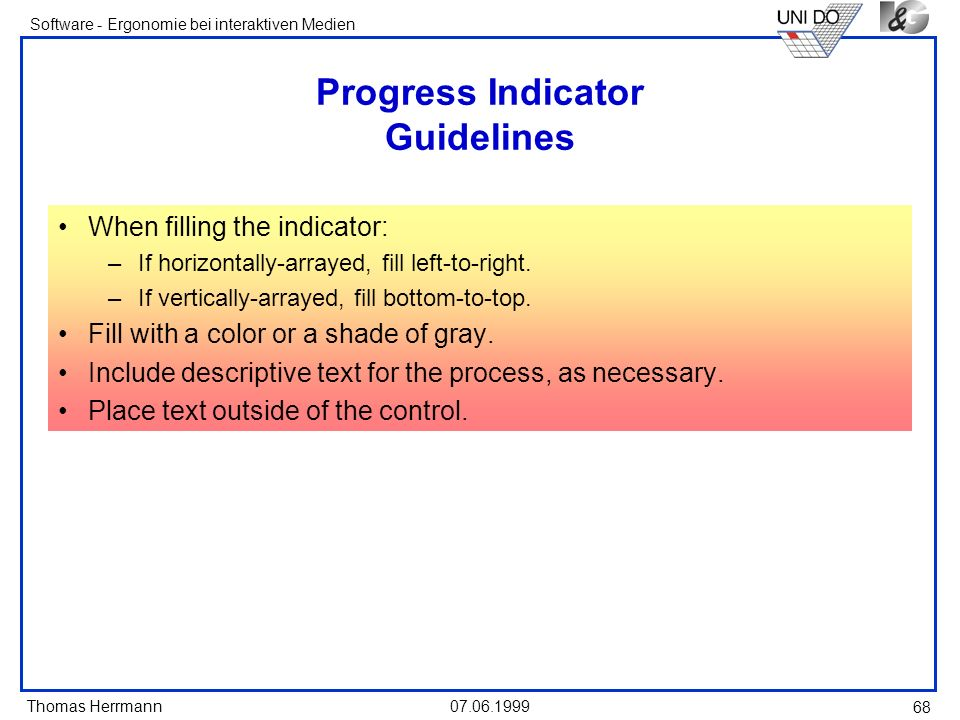 Progress Indicator Guidelines