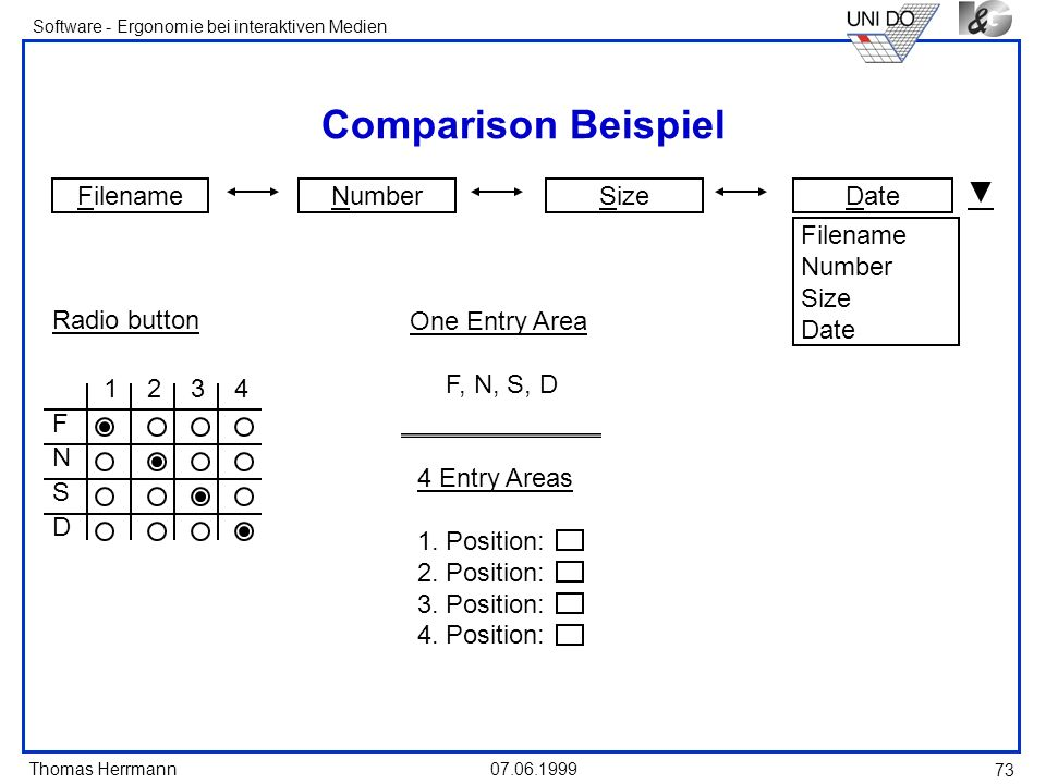 Comparison Beispiel Filename Number Size Date Filename Number Size