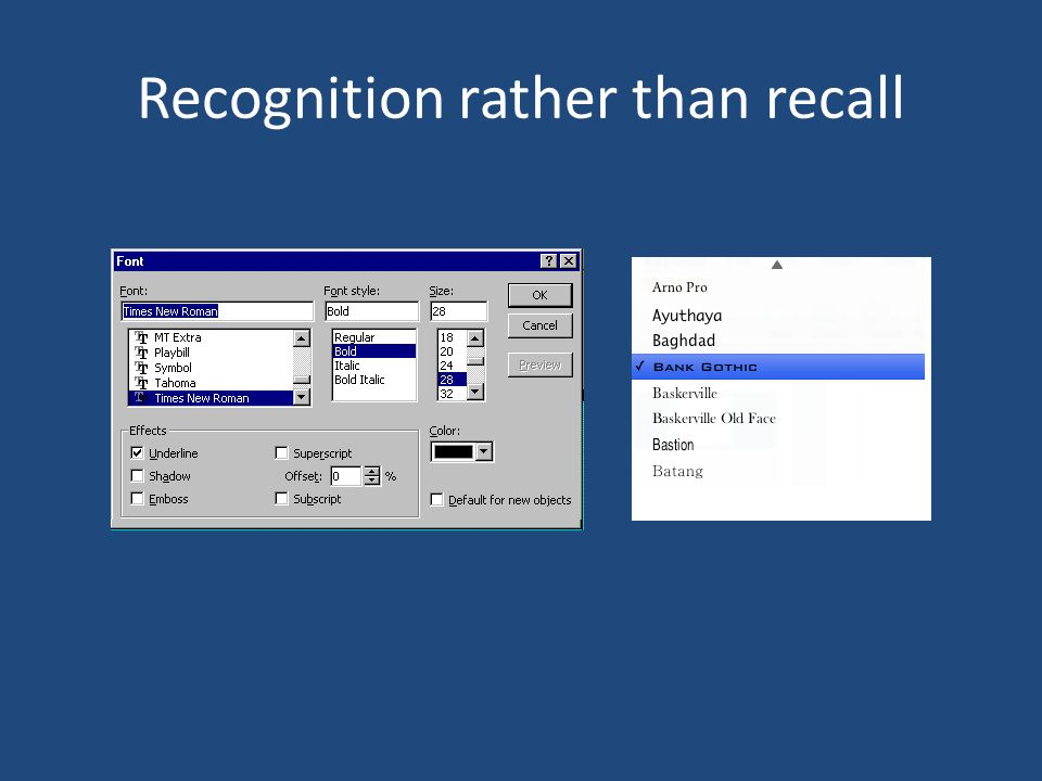 recognition recall Dual-process models of recognition assume that recognition judgments are  based on a fast-acting familiarity-based process and a slower, more accurate,.