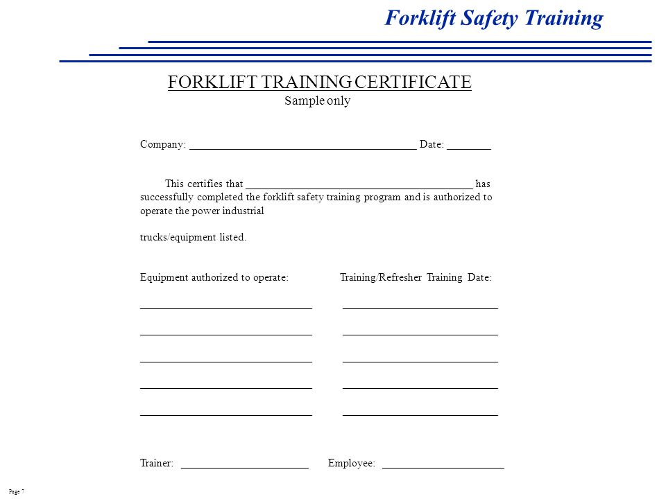 Forklift Safety Training - Ppt Video Online Download