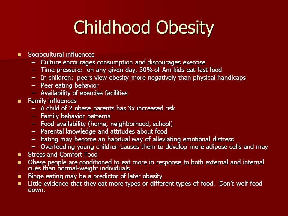 working parents influenced on childhood obesity Influence of maternal and child lifestyle-related characteristics  only few  studies evaluated to what extent parental overweight  family or otherwise  specified), and employment status (employed full-time or part-time.