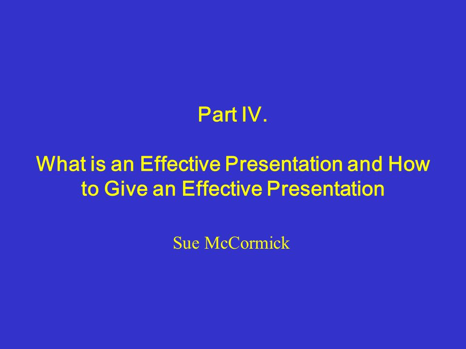 how to give effective presentation in english