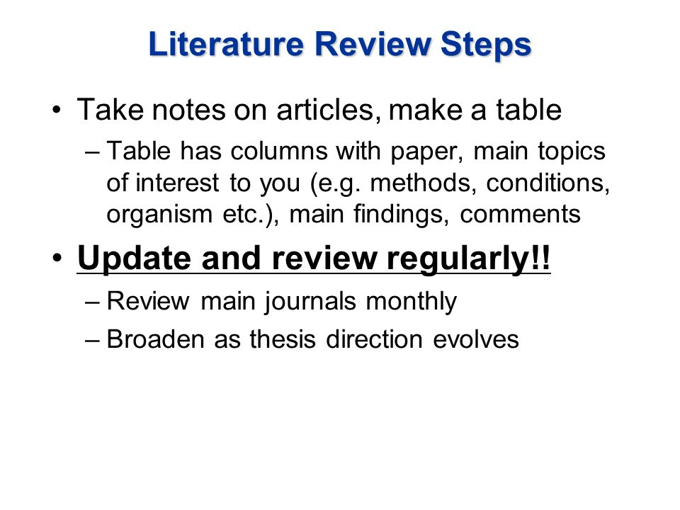 """literature review notes Writing a literature review paper 1 your first question when assigned a literature review paper may be """"what is it""""  a literature review paper synthesizes the key theories and results in a field of study it describes, evaluates and critiques a large number of resources, then demonstrates how  begin taking clear and consistent notes."""