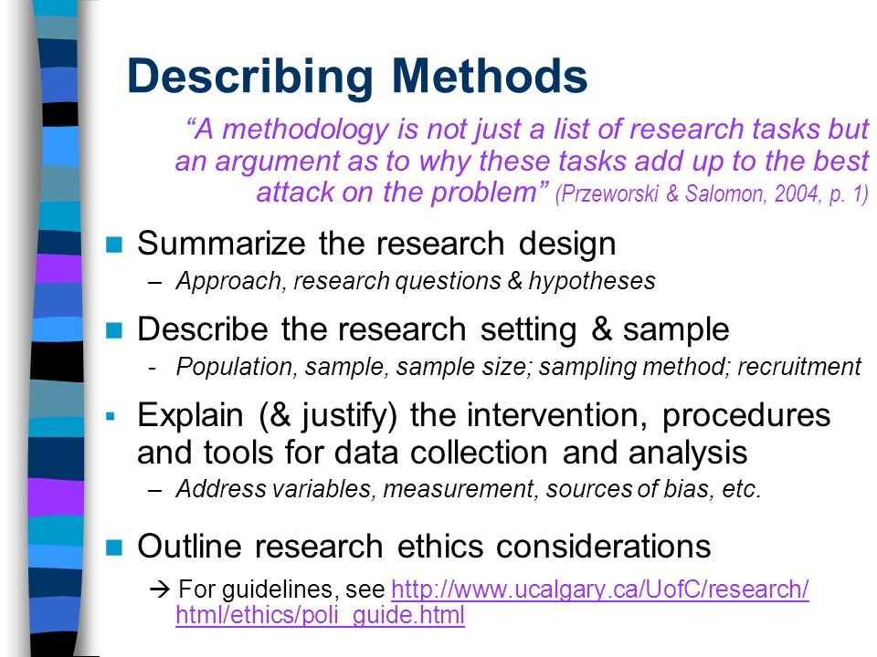 research methods for writing a thesis 3 methodology (in this unit i use your chosen research method  however, for students writing up an exclusively qualitative thesis, the shape of the.