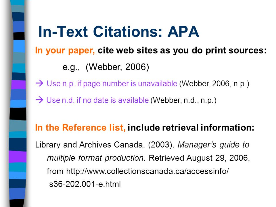 Apa No Page Number In Text Citation