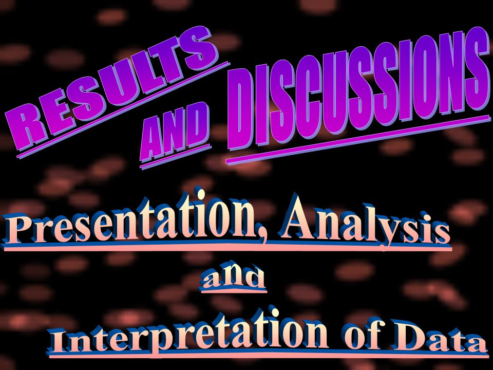 thesis presentation analysis and interpretation View thesis 4 from llb law 101 at wesleyan university - philippines chapter iv presentation, analysis and interpretation of.