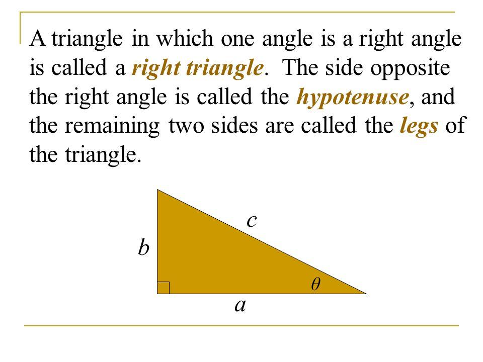 right angled triangle and trigonometry