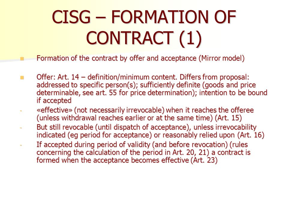 formation of contract Formation of contract of employment introduction the elements of a contract of employment depend upon the right and obligations of parties promise.