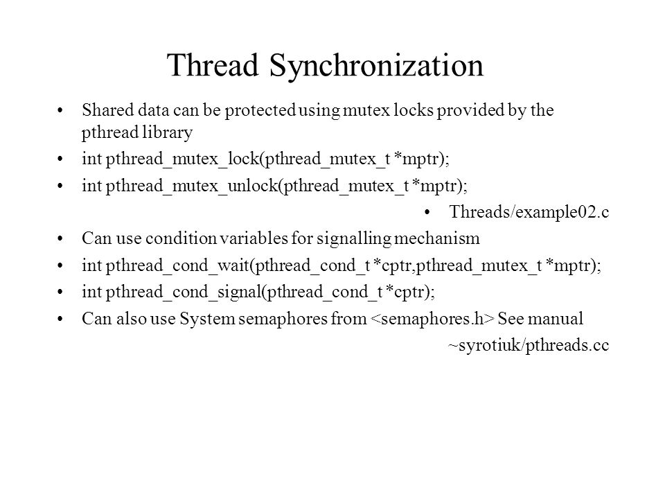 Thread Synchronization