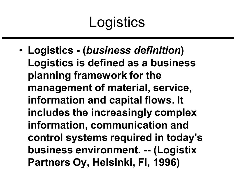 Creating A Logistics Business Plan – Questions To Consider