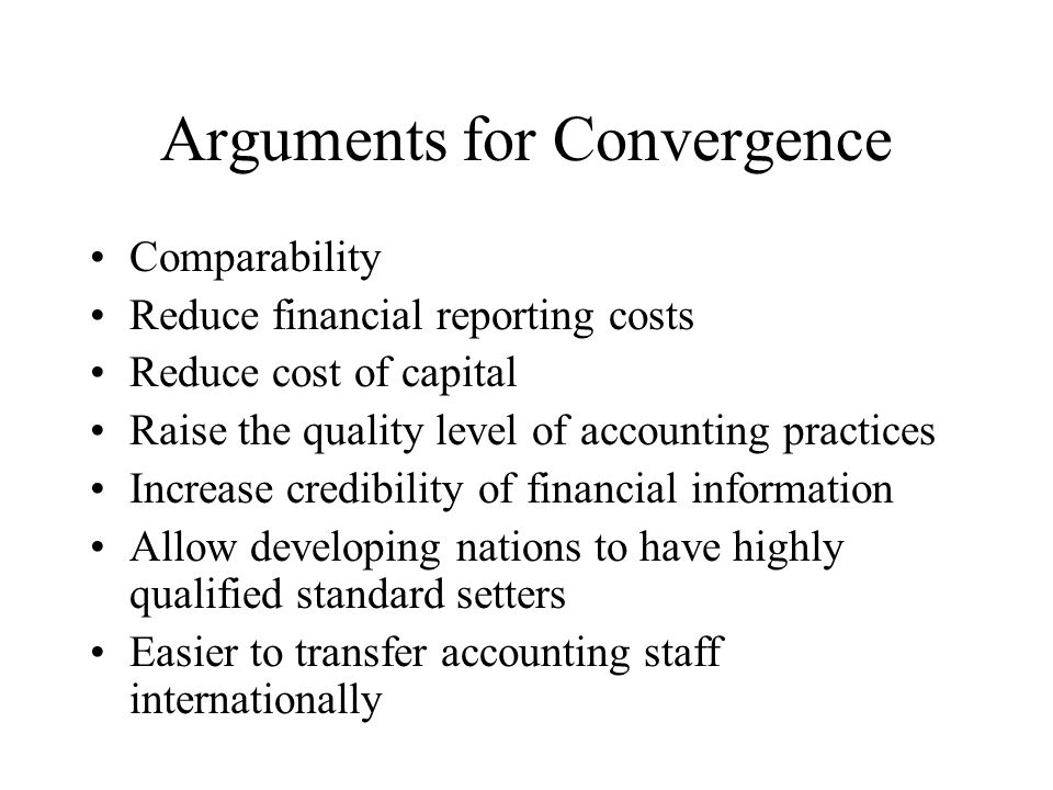 chapter 3 international convergence of financial reporting Financial reporting analysis chapter 3  interview accounting for business combinations and the convergence of international financial reporting standards with.