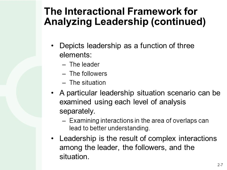 an analysis of the aspects of leadership Elements of effective succession planning situational analysis, and risk-taking in decision-making therefore, this search did not focus on the core values then inform how each aspect of work at every level is performed.