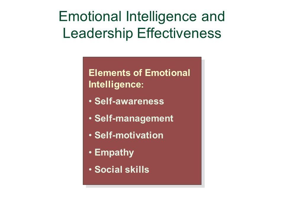emotional intelligence and transformational leadership Effective leadership communications with emotional intelligence  214 the transformational theory  of emotional intelligence on leadership.