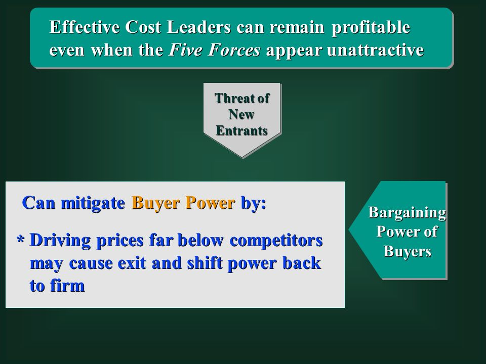 bargaining power of buyers It is important to assess the bargaining power of buyers over one or two complete business cycles at the bottom of the business cycle, buyers can have.