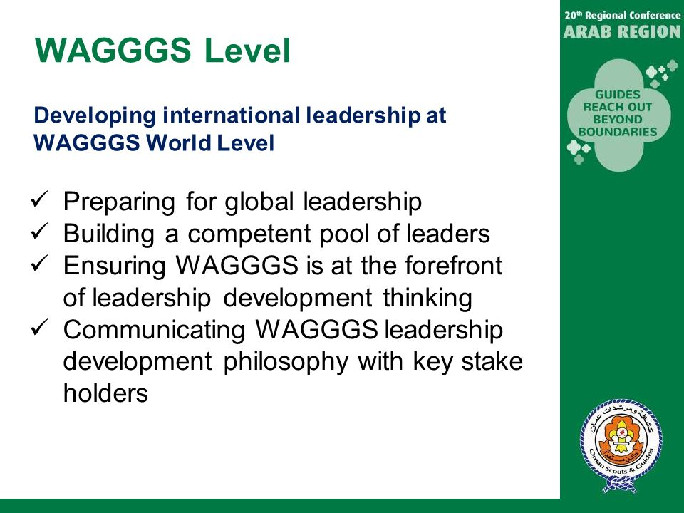WAGGGS Level Preparing for global leadership