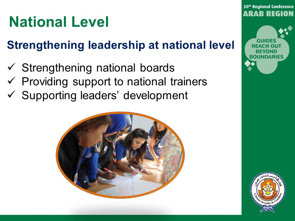 National Level Strengthening leadership at national level